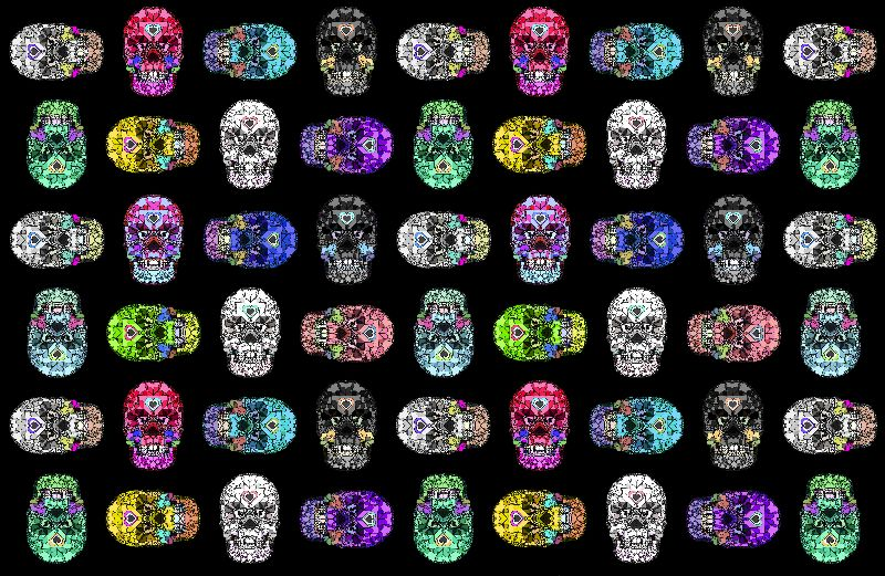 Skulls Hearts Black Love
