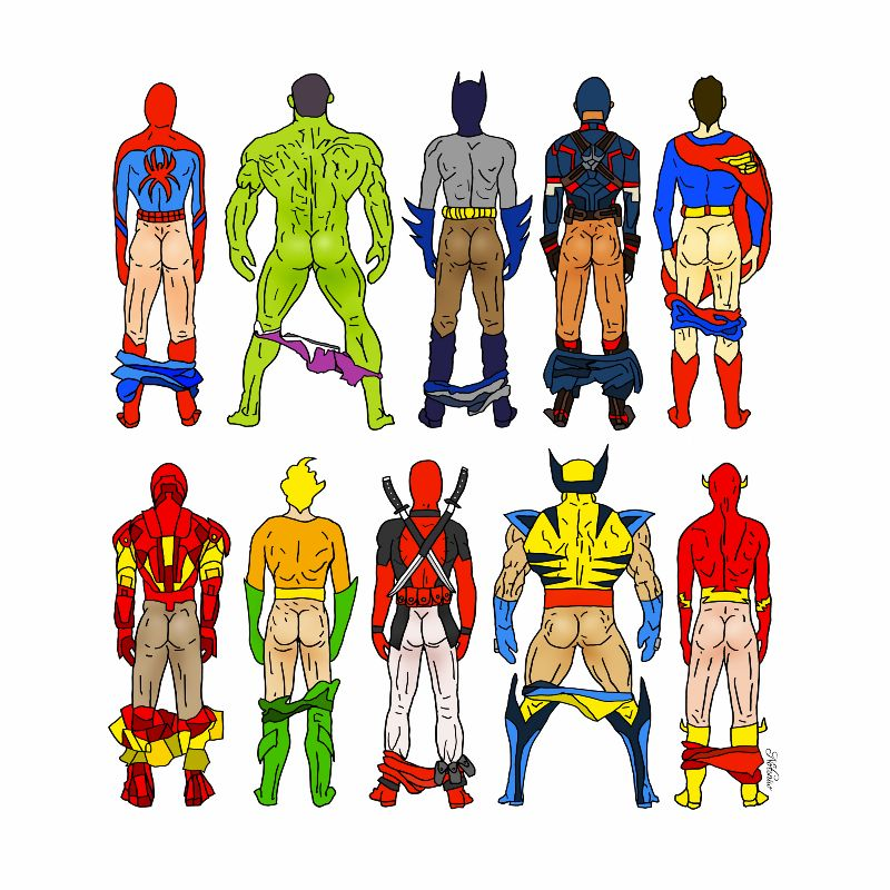 Superhero Butts