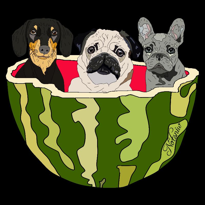 Watermelon Puppies