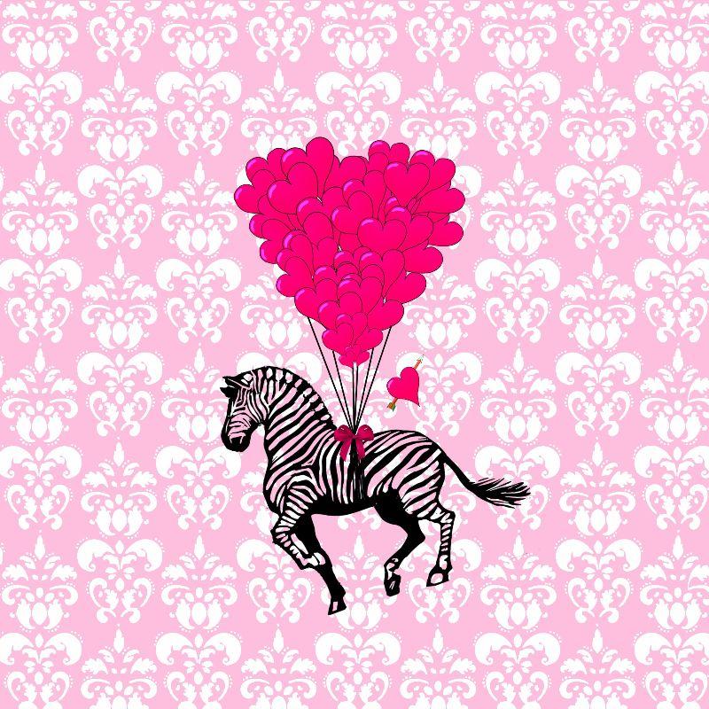 Fun romantic Zebra heart