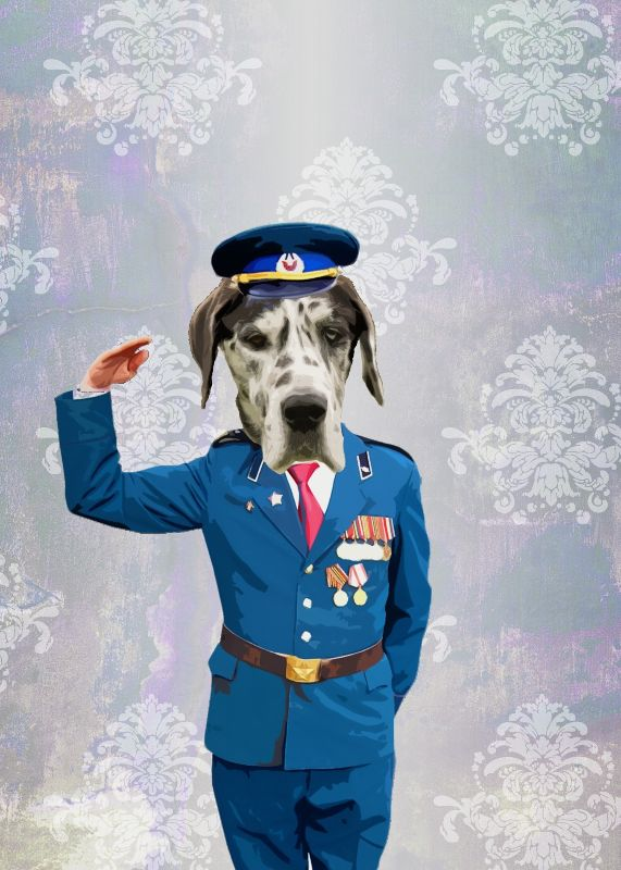 Funny Dog in Uniform