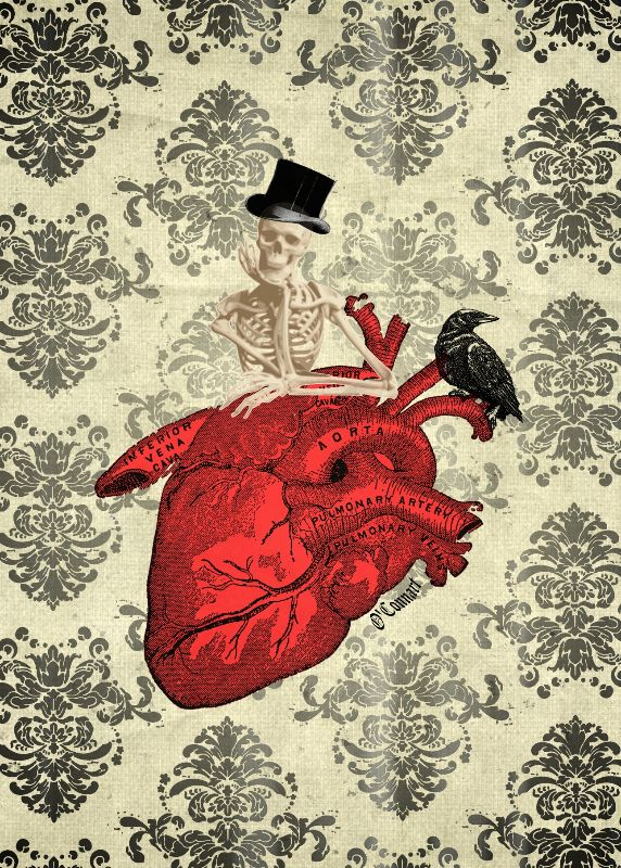 Funny Gothic heart