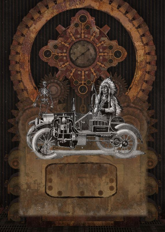 Funny Steampunk Indian