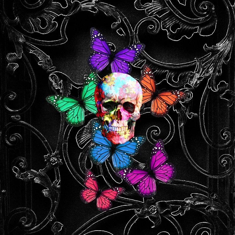 Gothic sugar skull