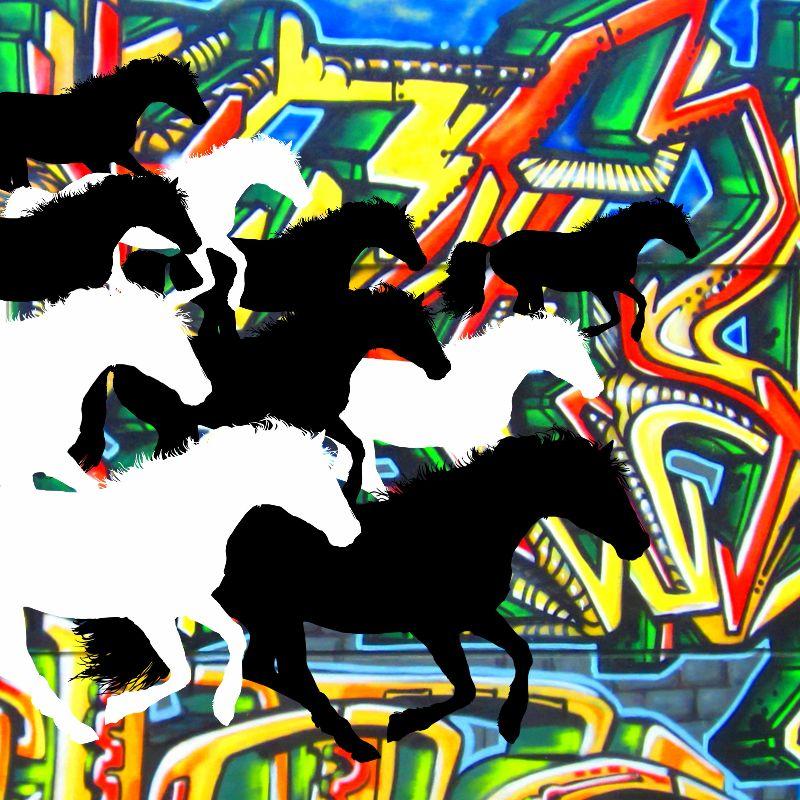 Graffiti Horses
