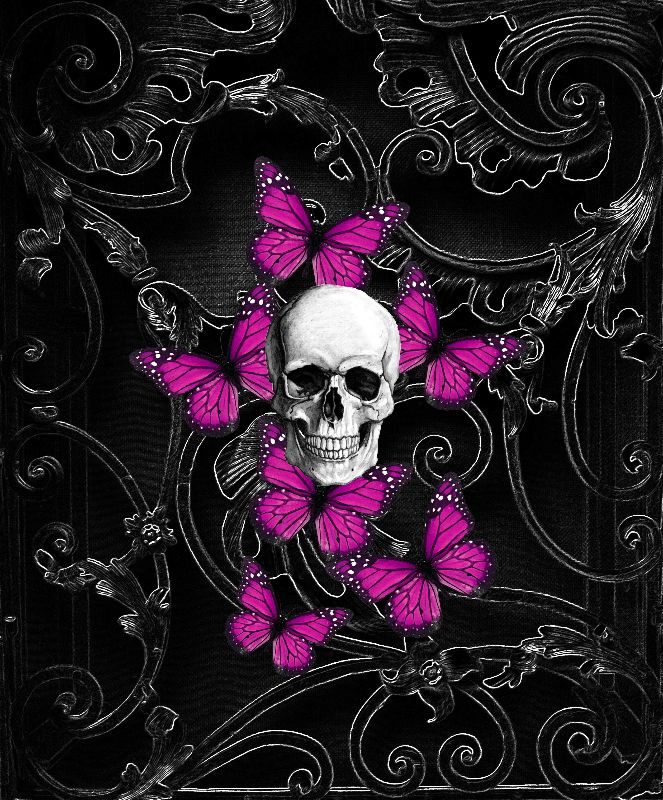 Purple Gothic skull