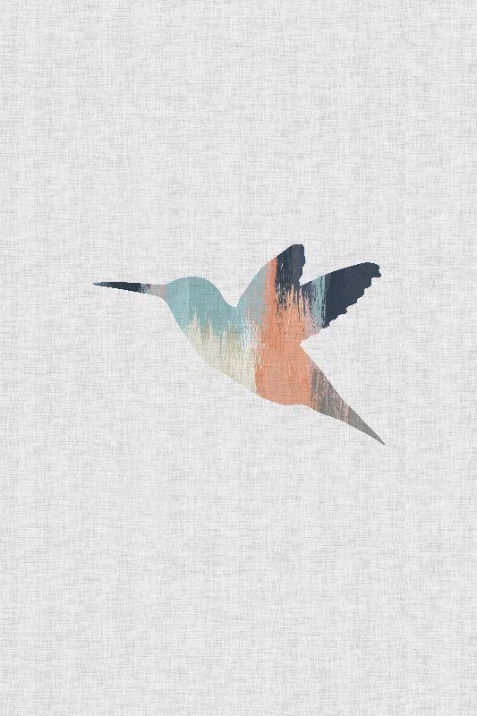 Pastel Hummingbird I