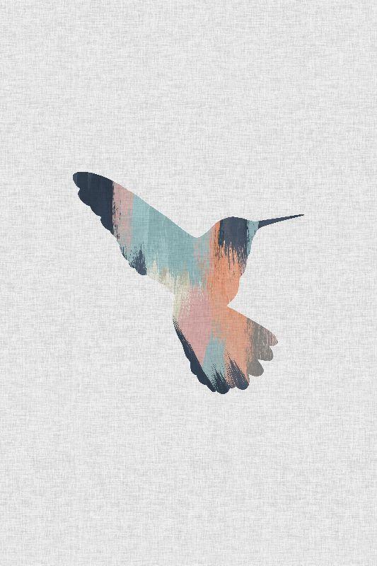 Pastel Hummingbird II