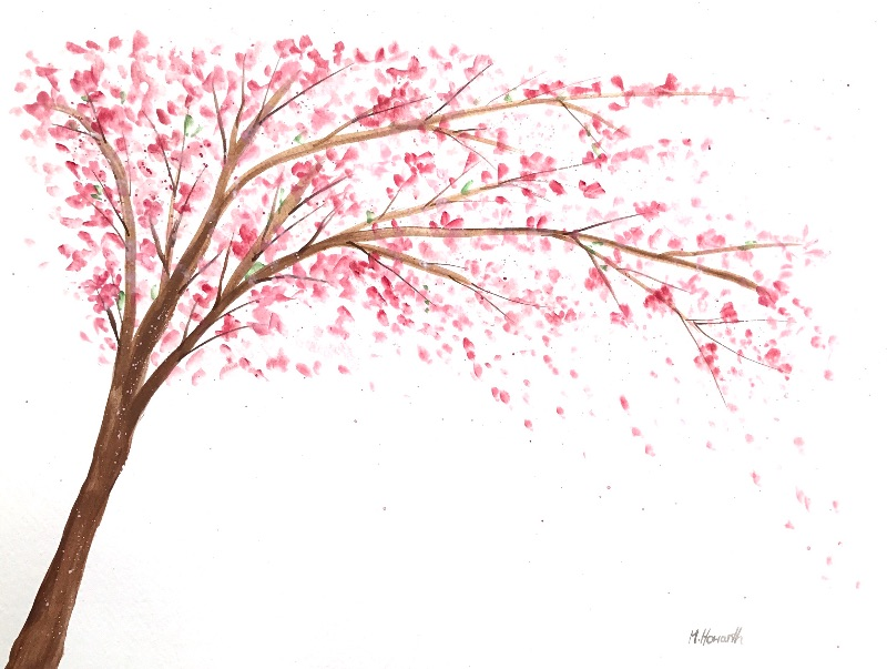 Cherry blossoms art