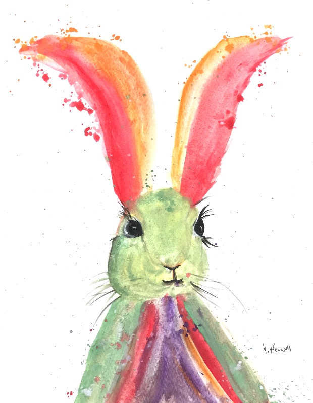 Hare colourful animal