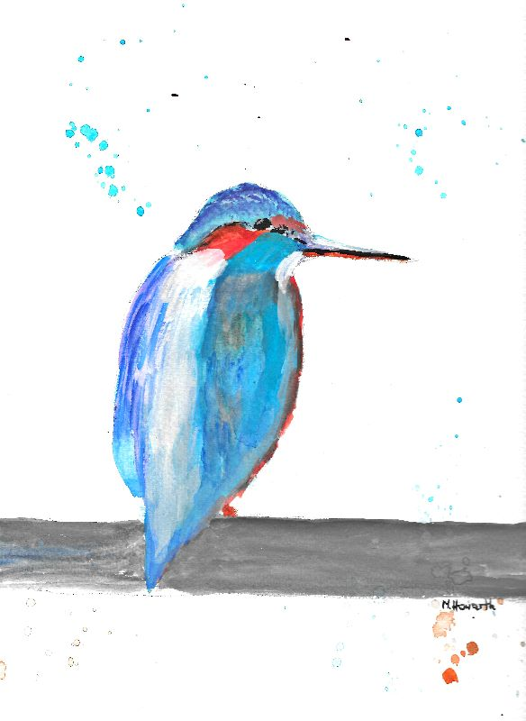 Kingfisher bird painting