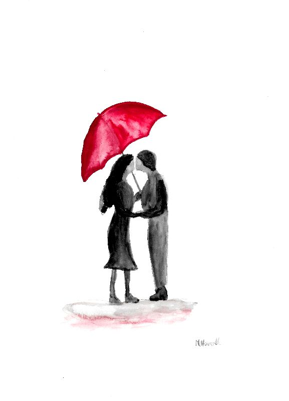 Love couple watercolour