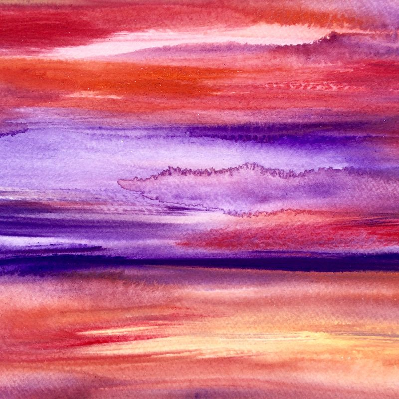 Purple sunset abstract