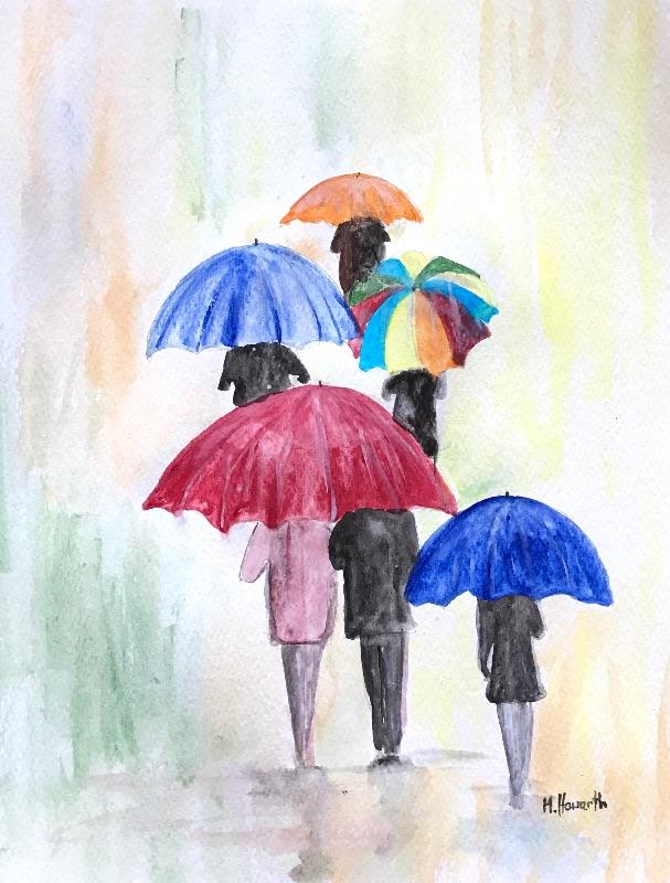 Umbrellas love couple
