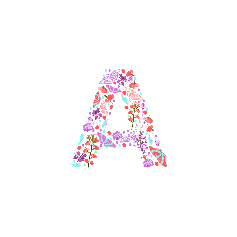 Flowery Letter A