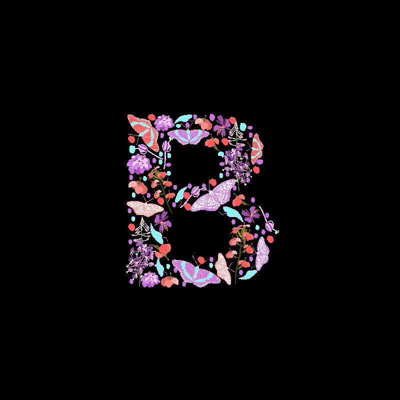 Flowery Letter B