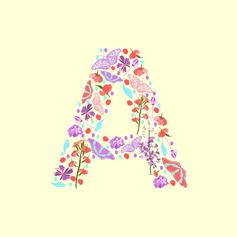 Springtime Letter A