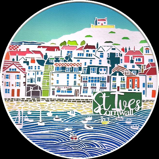 St Ives papercut