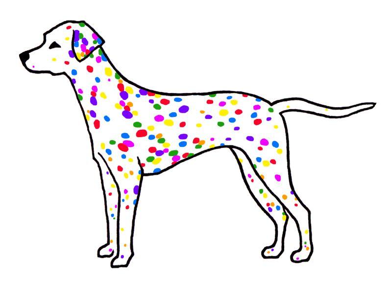 Rainbow Dalmatian Dog