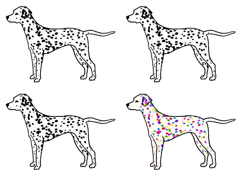 Rainbow Dalmatian Print