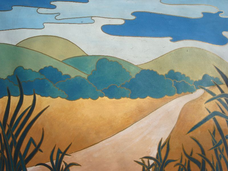 Abstract hilly landscape