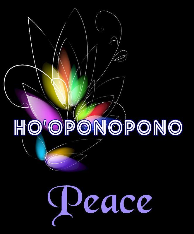 Hooponopono Peace Flower