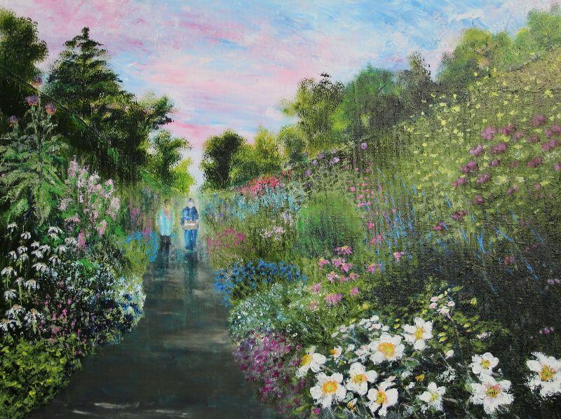Garden walk together