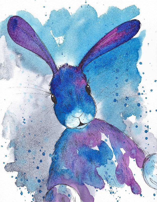 Peel a boo bunny
