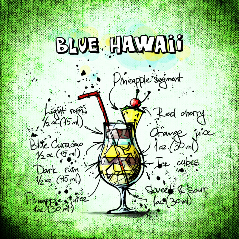 Blue Hawaii Drink Recipe