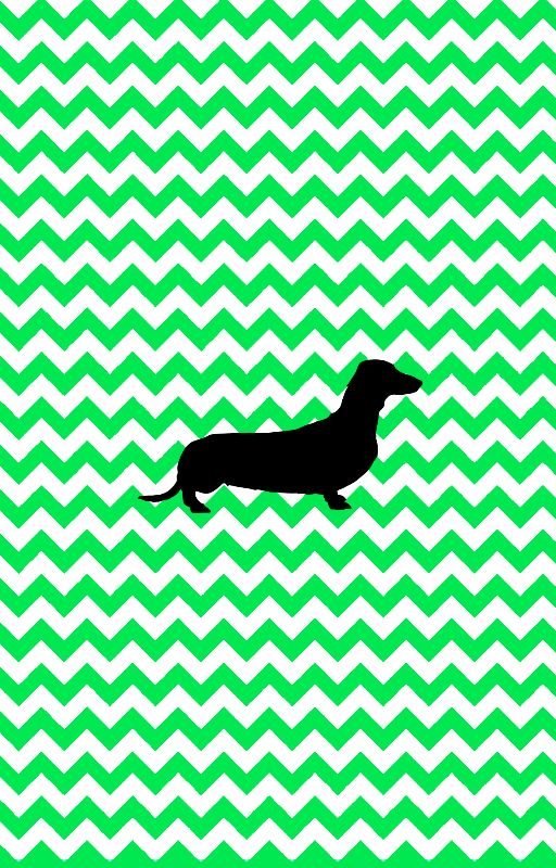 Chevron With Dachshund