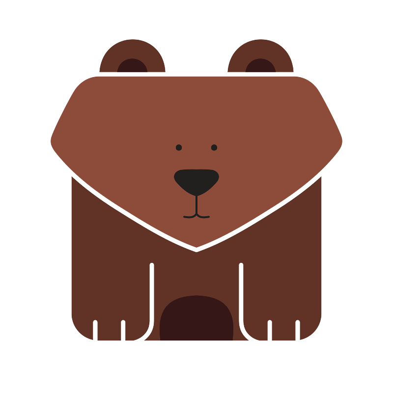 Cute Brown Square Bear