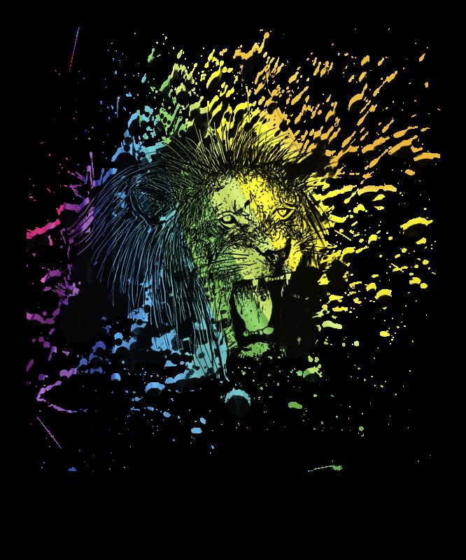 Rainbow Roaring Lion