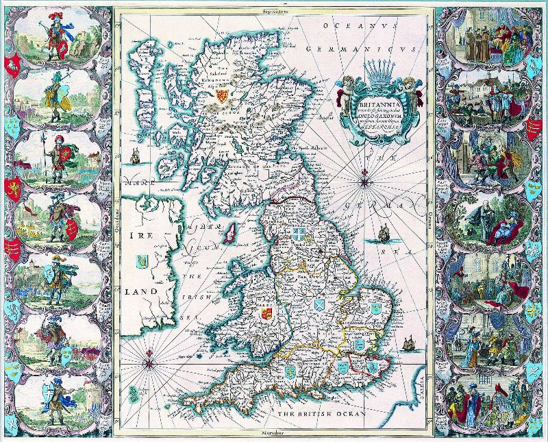 Vintage Map of Britain