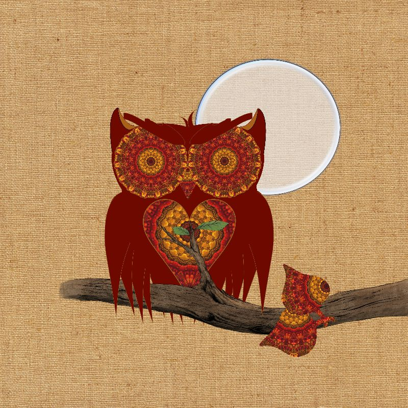 Cute Whimsy Night Owl