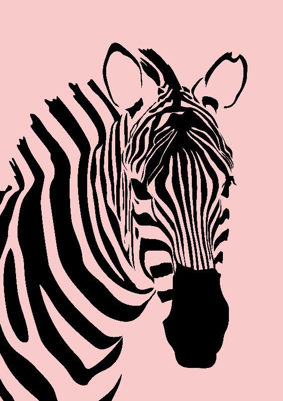 Zebra  Rose Quartz