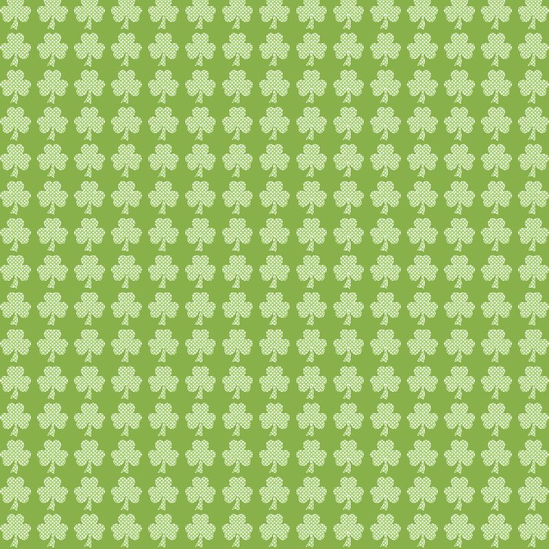 Greenery Clover Polka dot