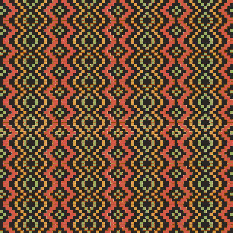 Egyptian Red Green Black