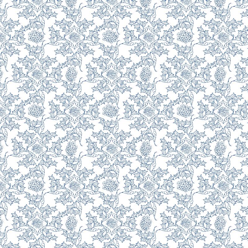 Indigo Blue Ethnic Floral