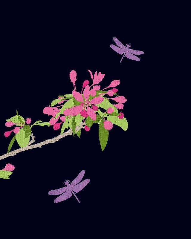 Ebony Floral Design 06