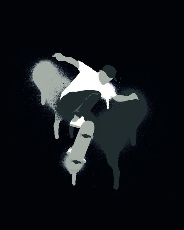 Skateboarder Stencil