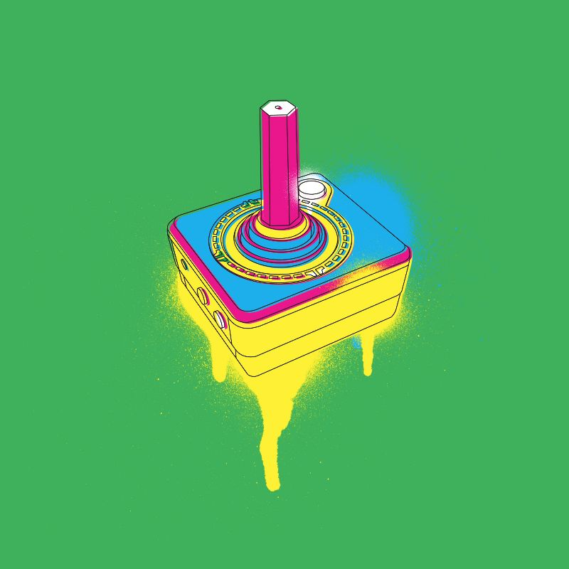 Spray Can Retro Joystick