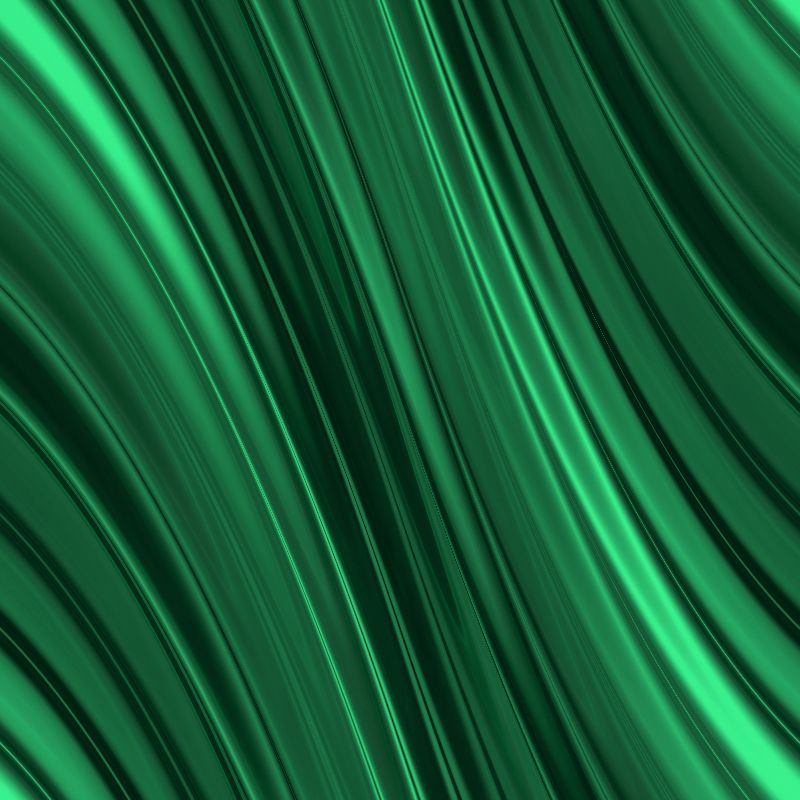 Emerald green waves