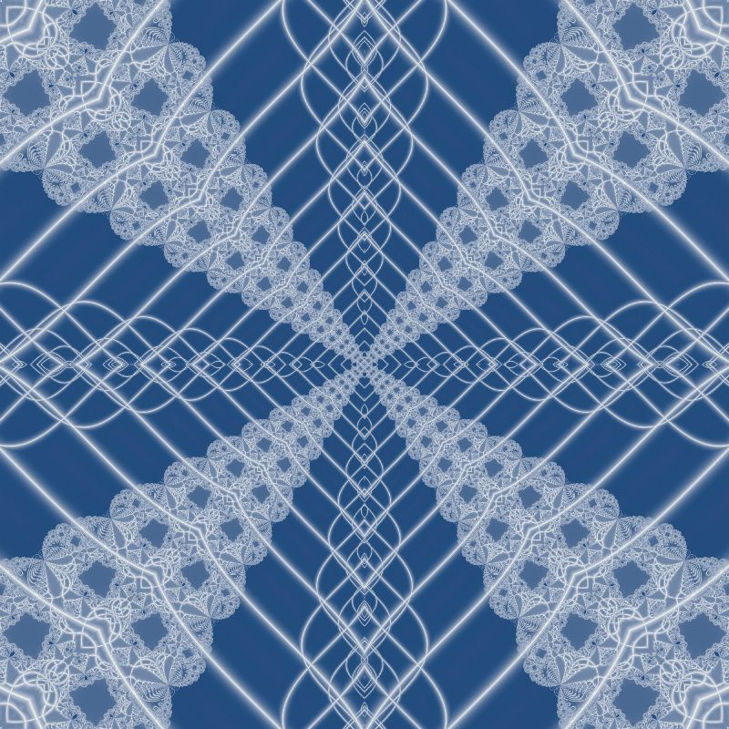 Fractal lace on blue