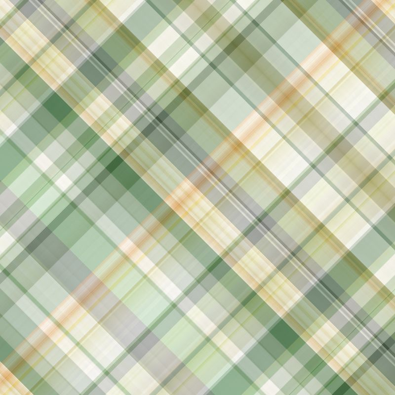 Green orange spring plaid