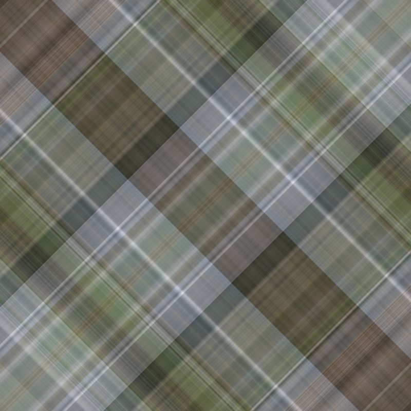 Grey and green plaid