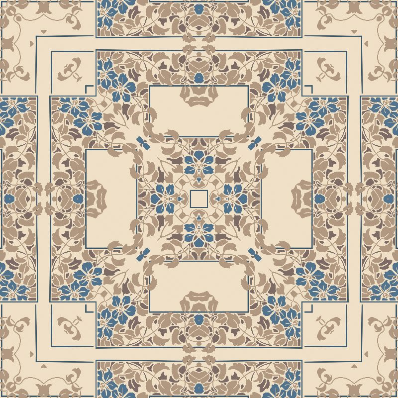 Light brown floral square