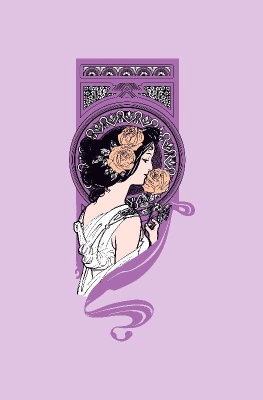 Mauve art nouveau girl