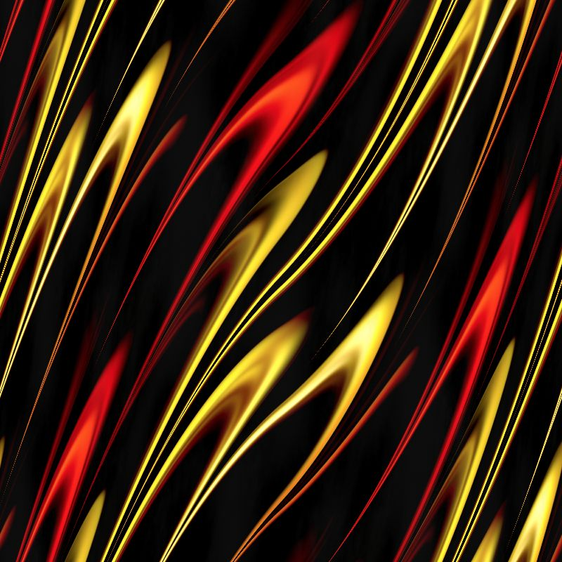 Red and yellow flames