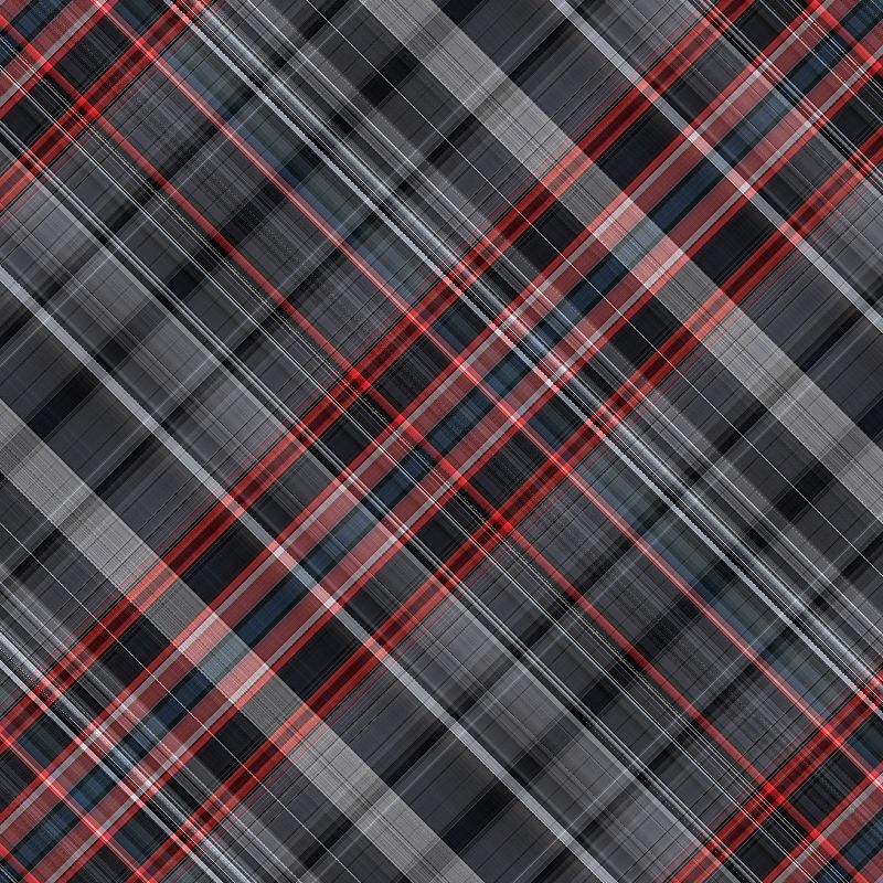 Red black tartan