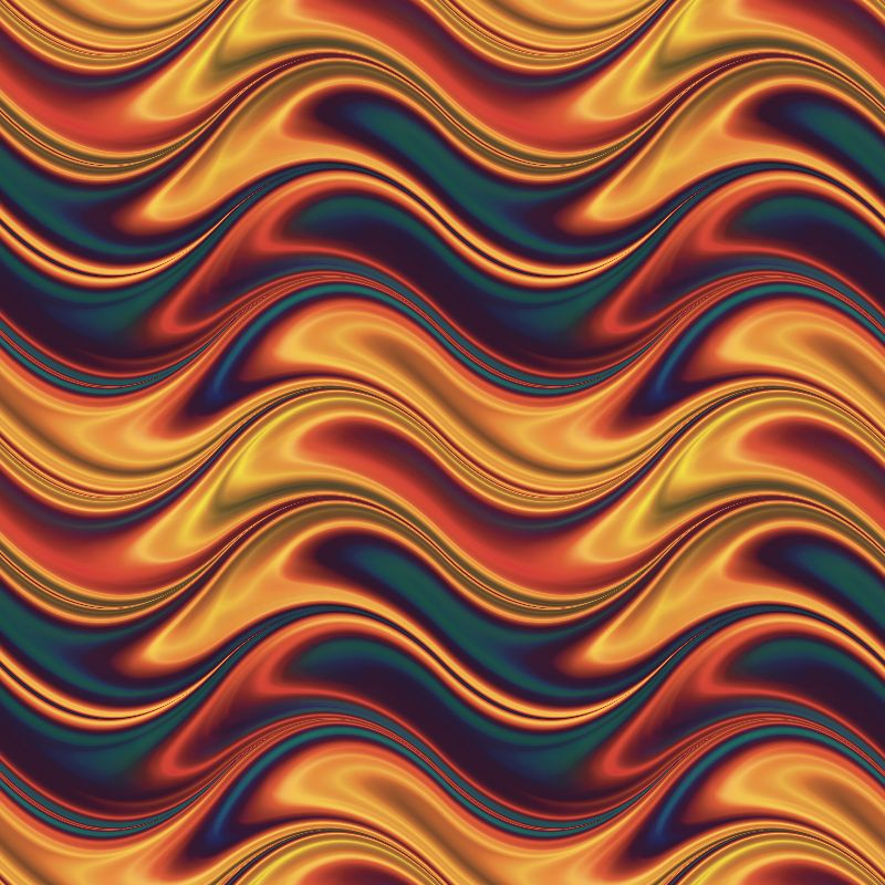 Red blue yellow waves